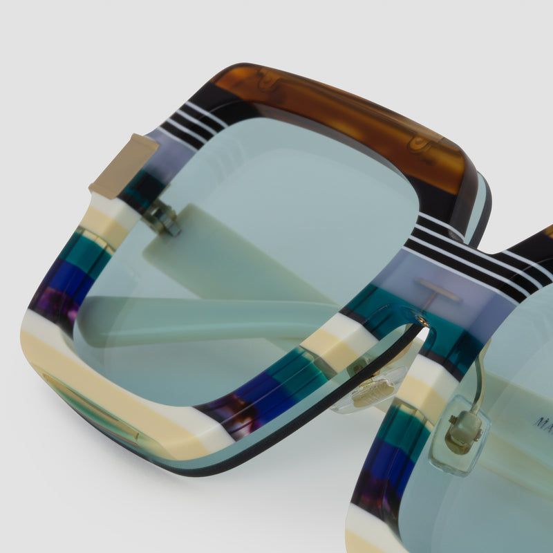 Detail shot of Mancuso Disco Daddy Sunglasses