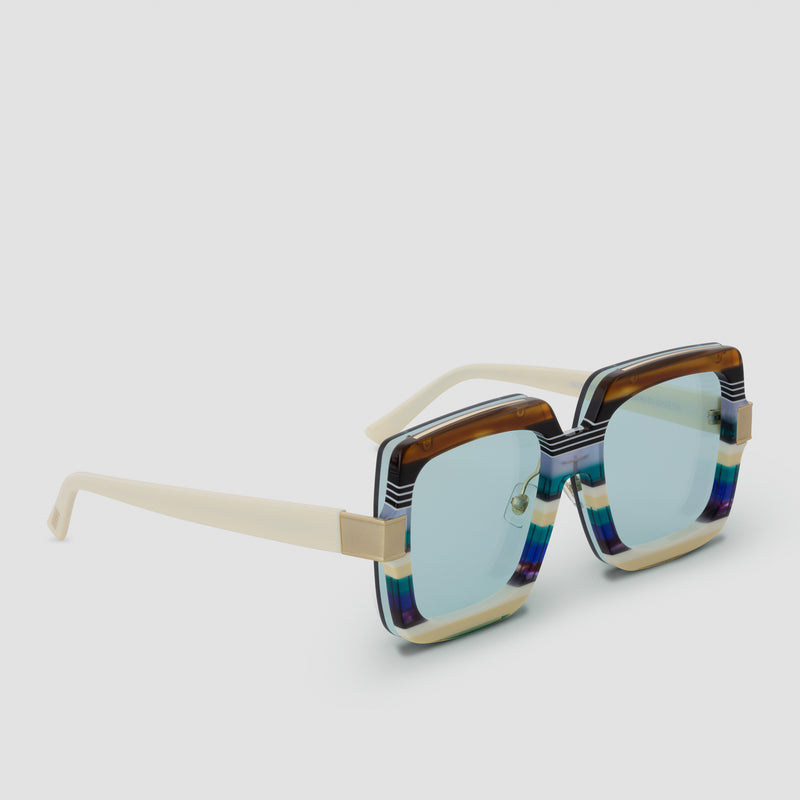 Quarter View of Mancuso Disco Daddy Sunglasses