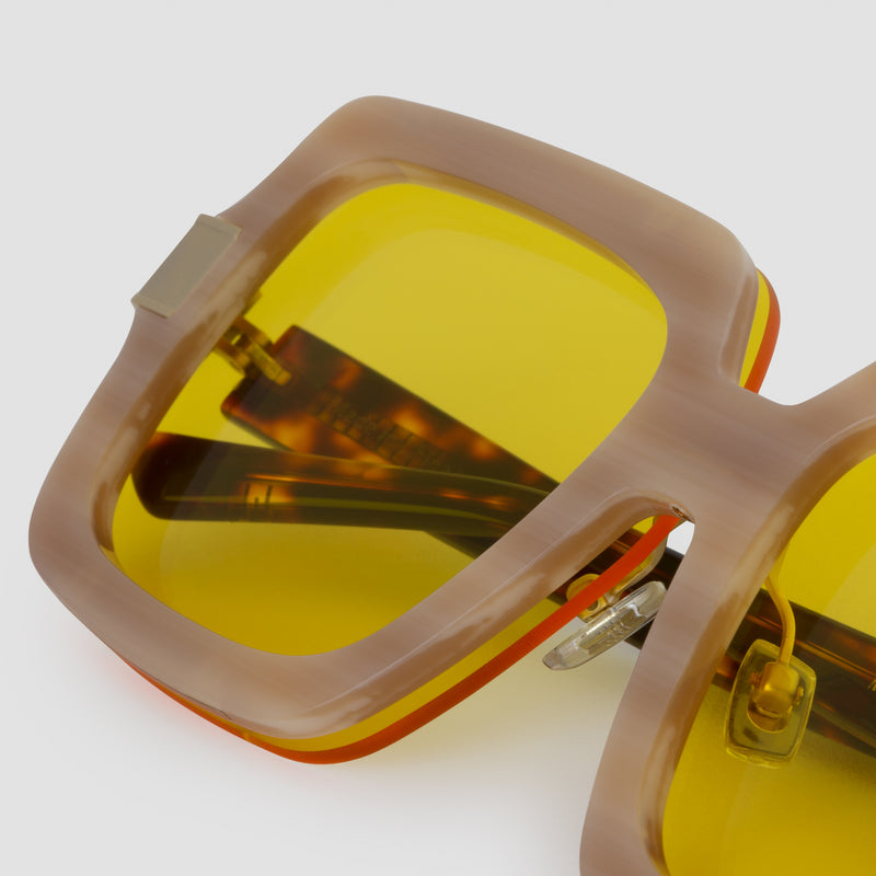 Detail shot of Mancuso Le Freak Sunglasses