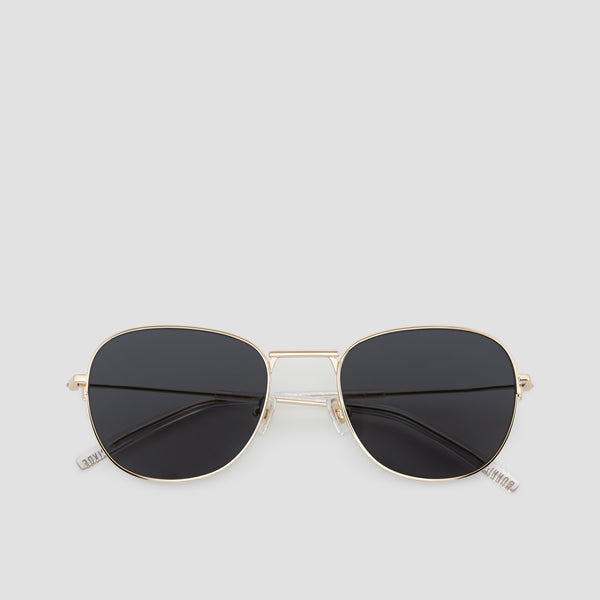 Front View of Melody J. Gold-Black Sunglasses