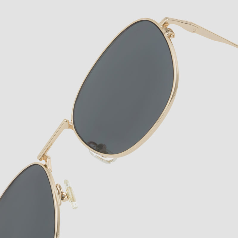 Detail shot of Melody J. Gold-Black Sunglasses
