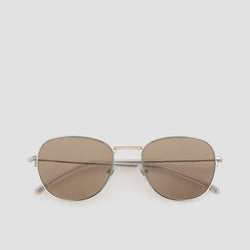 Front View of Melody Mixed Alloy-Almond Sunglasses