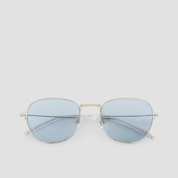 Front View of Melody Mixed Alloy-Tian Blue (Flash) Sunglasses