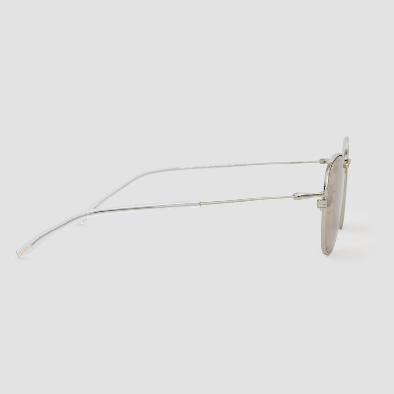Side View of Melody Mixed Alloy-Almond Sunglasses