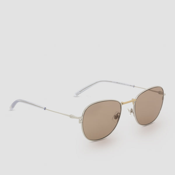 Quarter View of Melody Mixed Alloy-Almond Sunglasses