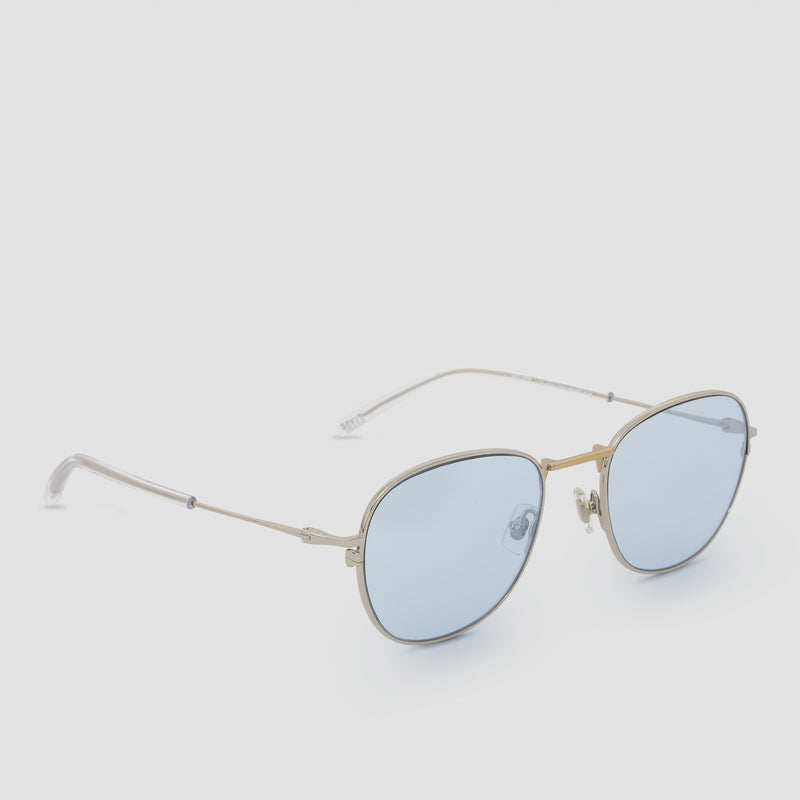 Quarter View of Melody Mixed Alloy-Tian Blue (Flash) Sunglasses