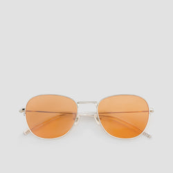 Front View of Melody Silver-Orange (Flash) Sunglasses