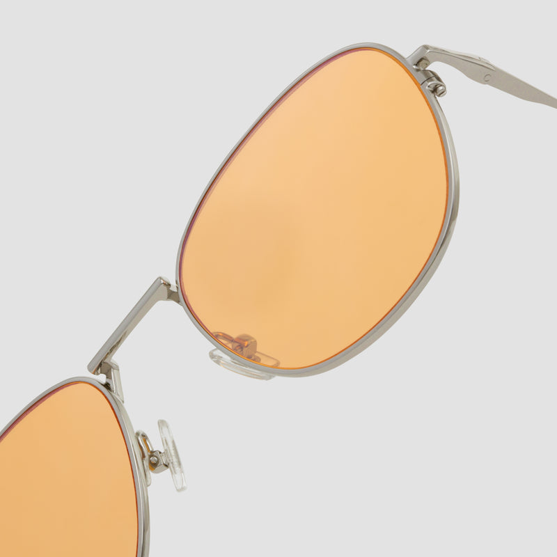 Detail shot of Melody Silver-Orange (Flash) Sunglasses