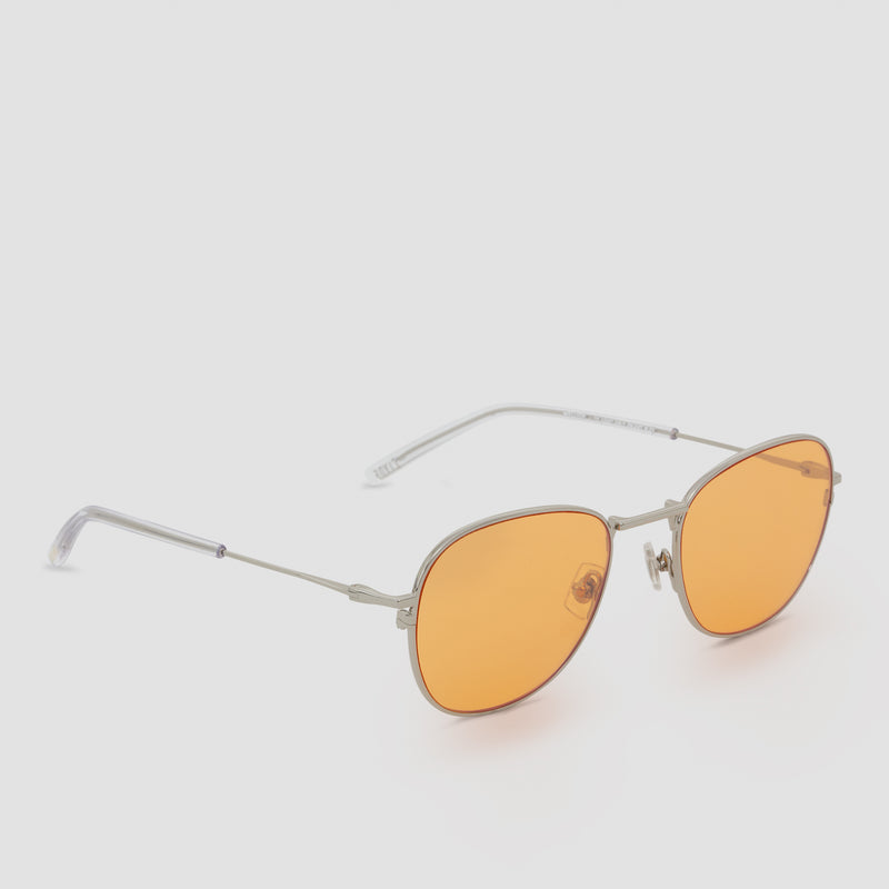 Quarter View of Melody Silver-Orange (Flash) Sunglasses
