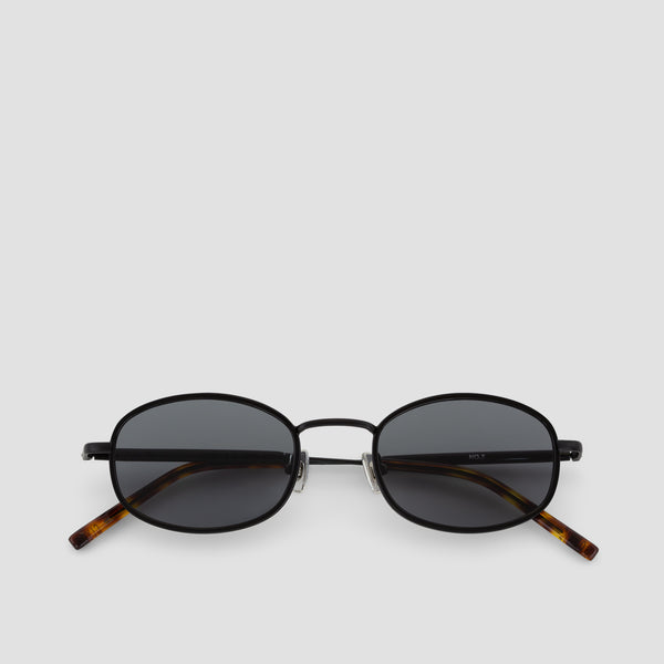 Front View of No. 7 Tortoise-Black Sunglasses