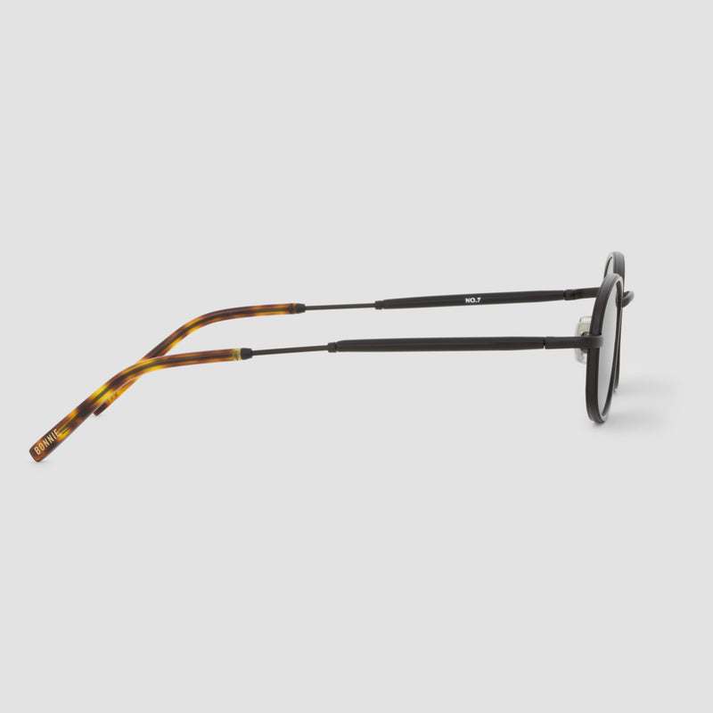 Side View of No. 7 Tortoise-Black Sunglasses