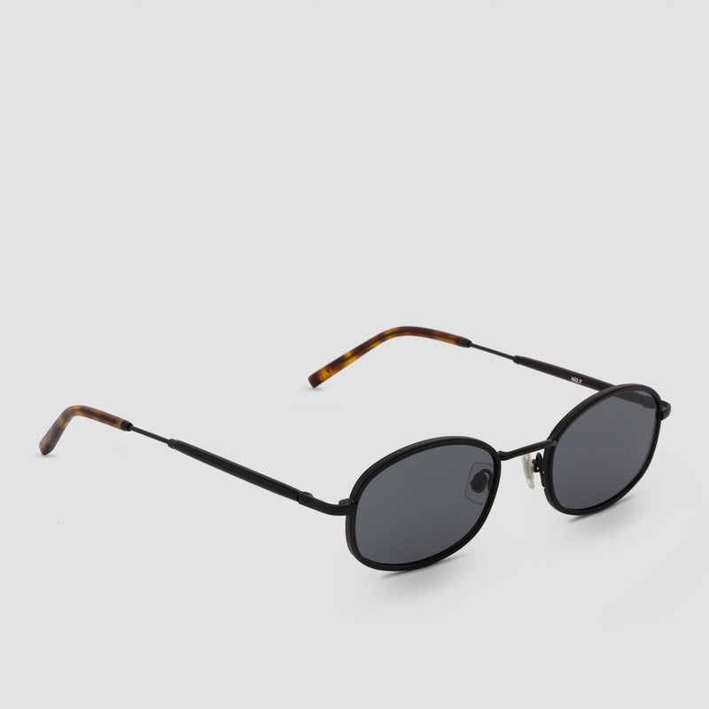 Quarter View of No. 7 Tortoise-Black Sunglasses