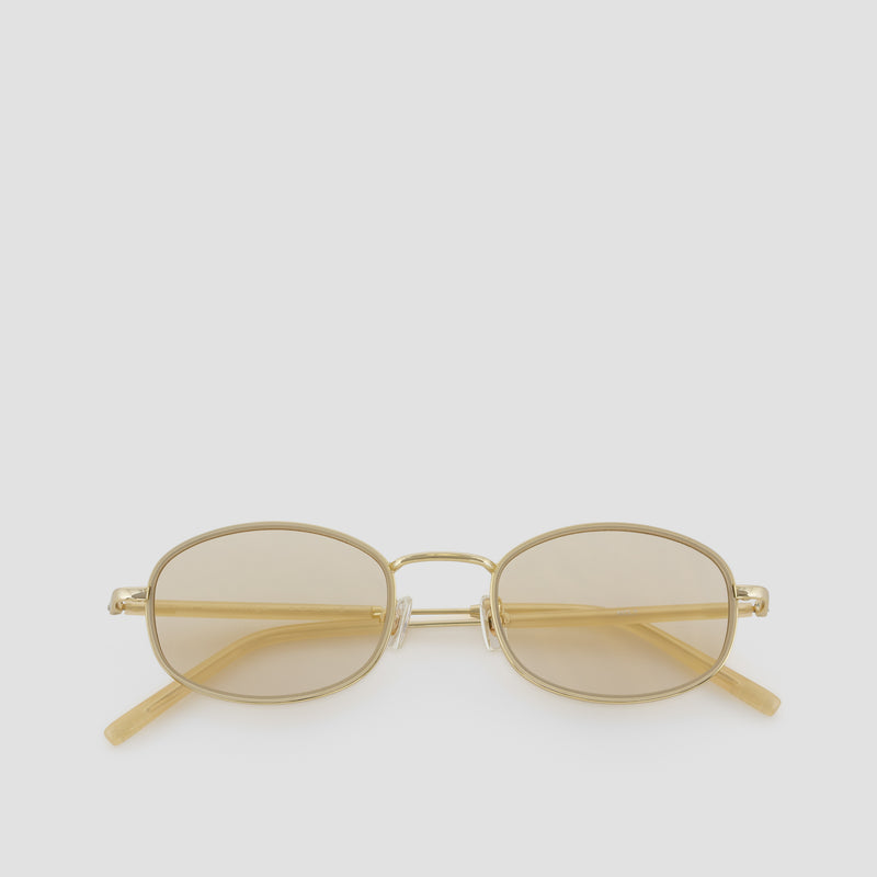 Front View of No. 7 J. Gold-Amber (Flash) Sunglasses