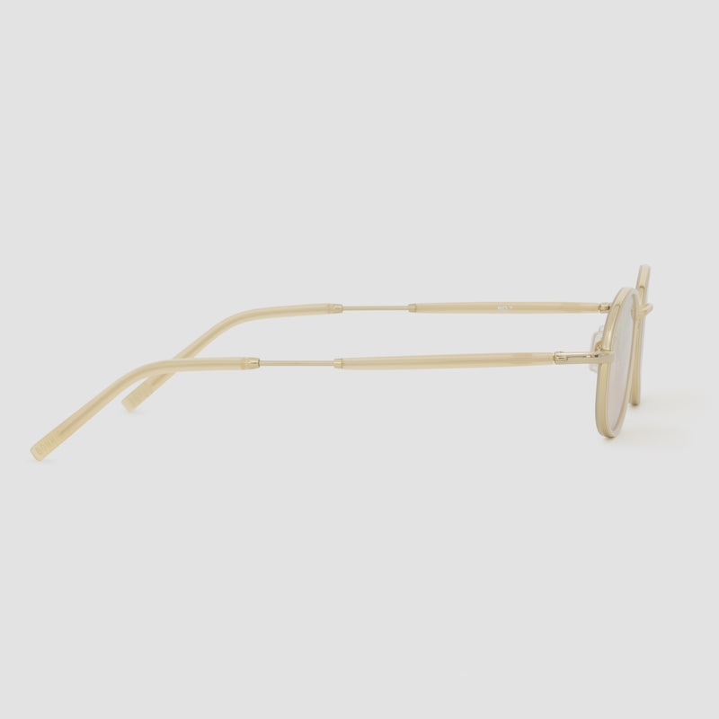 Side View of No. 7 J. Gold-Amber (Flash) Sunglasses