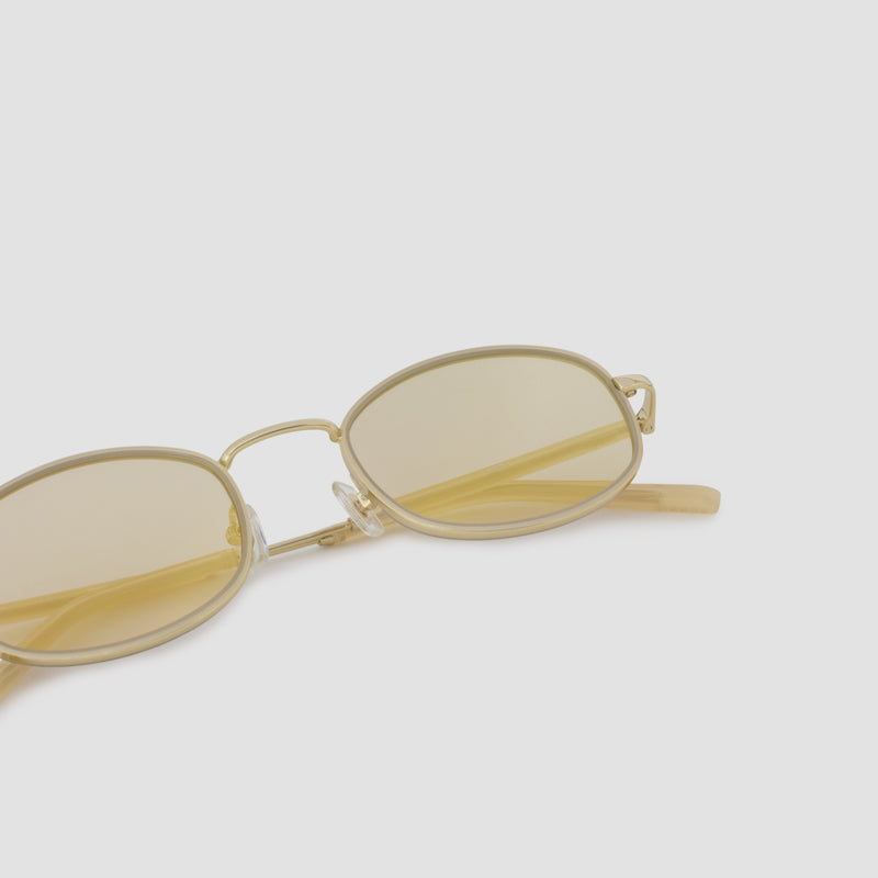 Detail shot of No. 7 J. Gold-Amber (Flash) Sunglasses