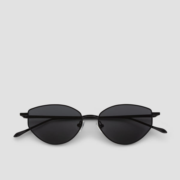 Front View of Oddity Black-Black Sunglasses