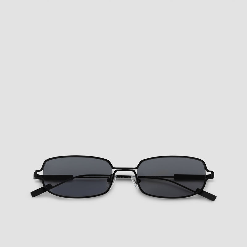 Front View of Petrichor Black-Black Sunglasses