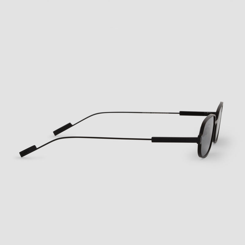 Side View of Petrichor Black-Black Sunglasses