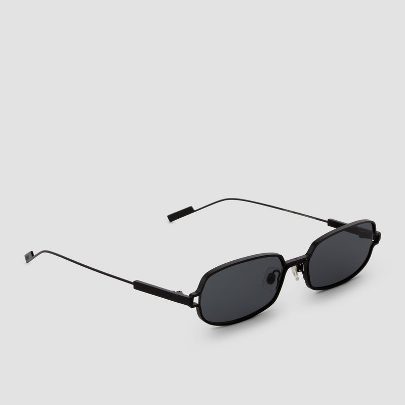 Quarter View of Petrichor Black-Black Sunglasses