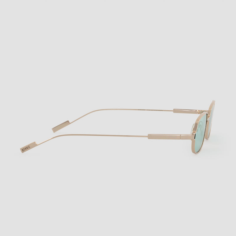 Side View of Petrichor Cold Gold Sunglasses