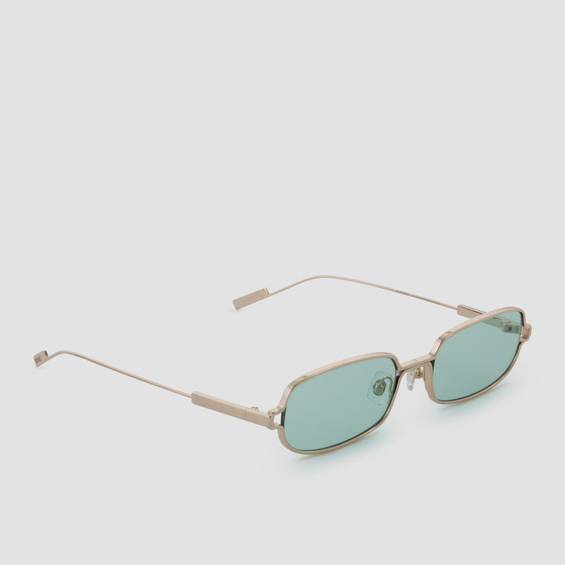 Quarter View of Petrichor Cold Gold Sunglasses