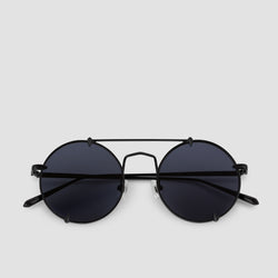 Front View of Pico Bushido Black Sunglasses