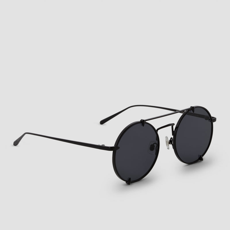 Quarter View of Pico Bushido Black Sunglasses
