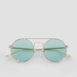 Front View of Pico Cold Gold Sunglasses