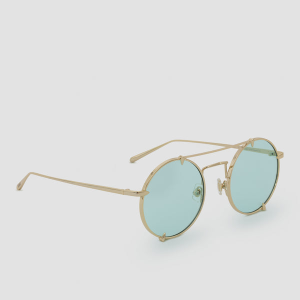 Quarter View of Pico Cold Gold Sunglasses