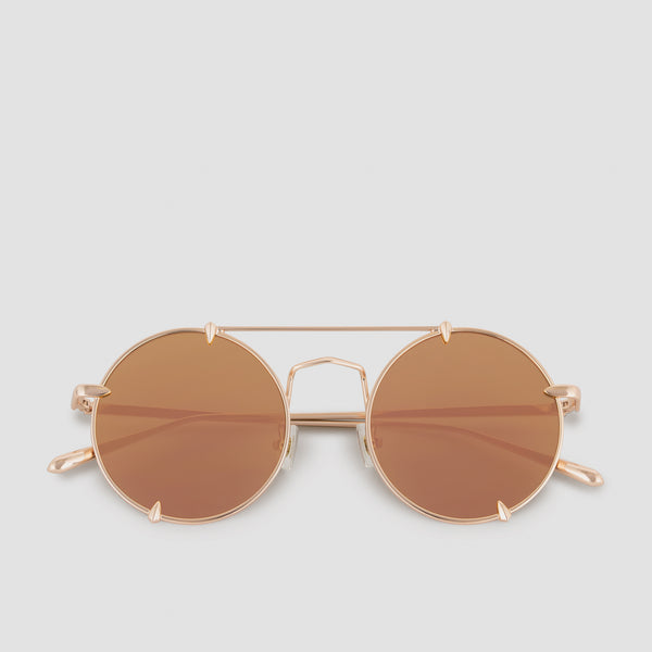 Front View of Pico Palace Gold (Mirror) Sunglasses