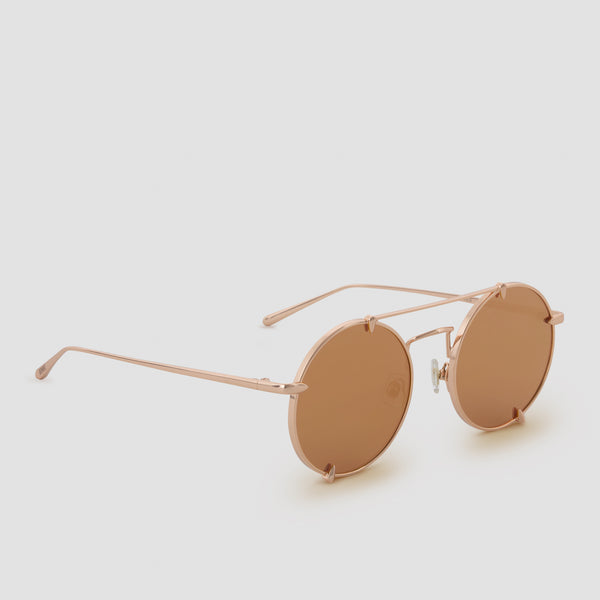 Quarter View of Pico Palace Gold (Mirror) Sunglasses