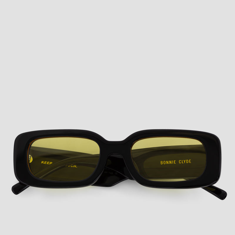 Front View of Show and Tell Black-Sunglow Sunglasses