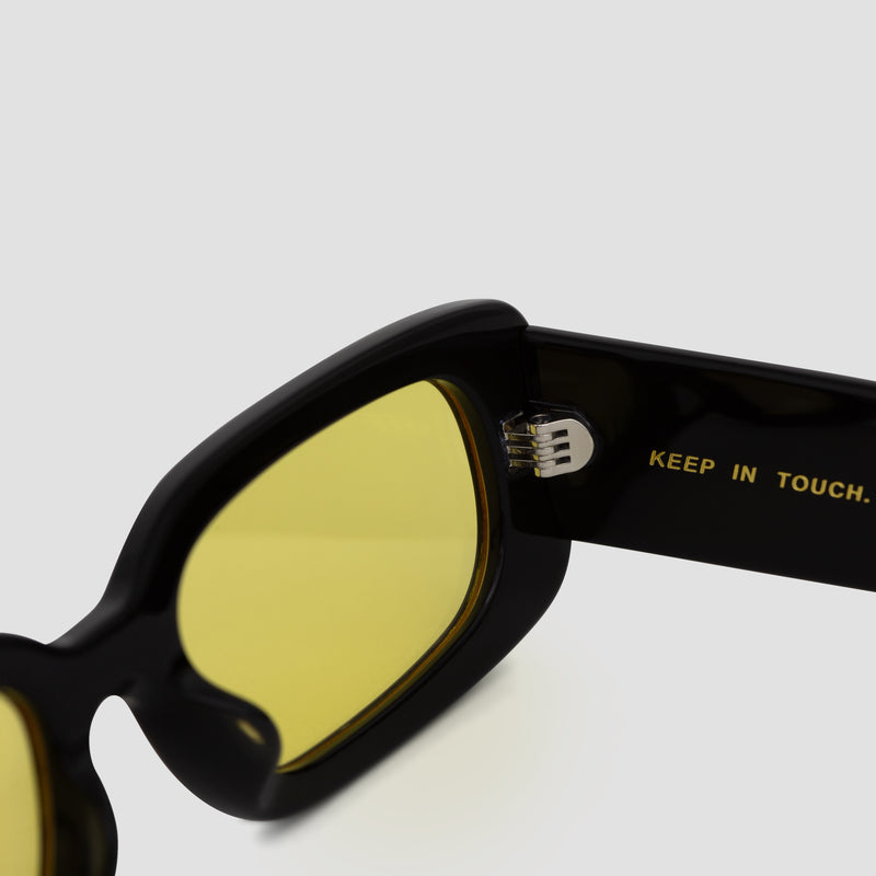 Detail shot of Show and Tell Black-Sunglow Sunglasses