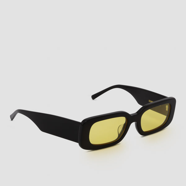 Quarter View of Show and Tell Black-Sunglow Sunglasses