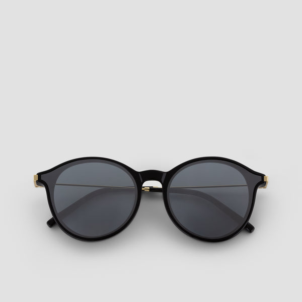 Front View of Summit Black-Black (Mirror) Sunglasses