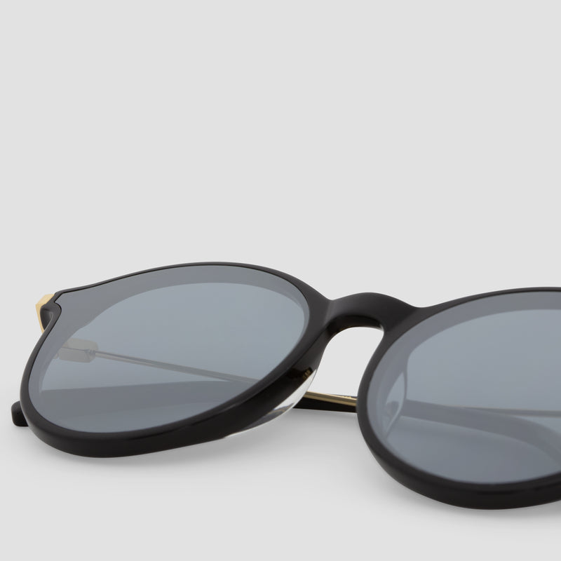 Detail shot of Summit Black-Black (Mirror) Sunglasses