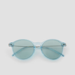 Front View of Summit Cyan Sunglasses