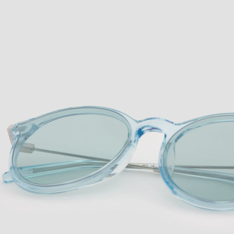 Detail shot of Summit Cyan Sunglasses