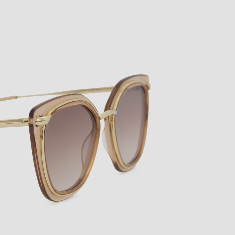 Detail shot of Temple Japanese Gold-Almond Sunglasses