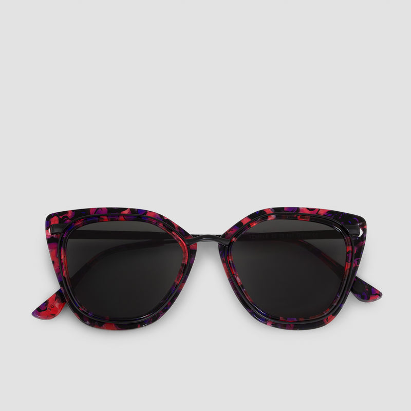 Front View of Temple Butterfly Bebop Sunglasses
