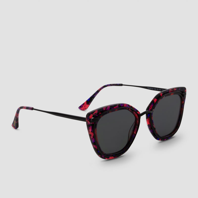 Quarter View of Temple Butterfly Bebop Sunglasses