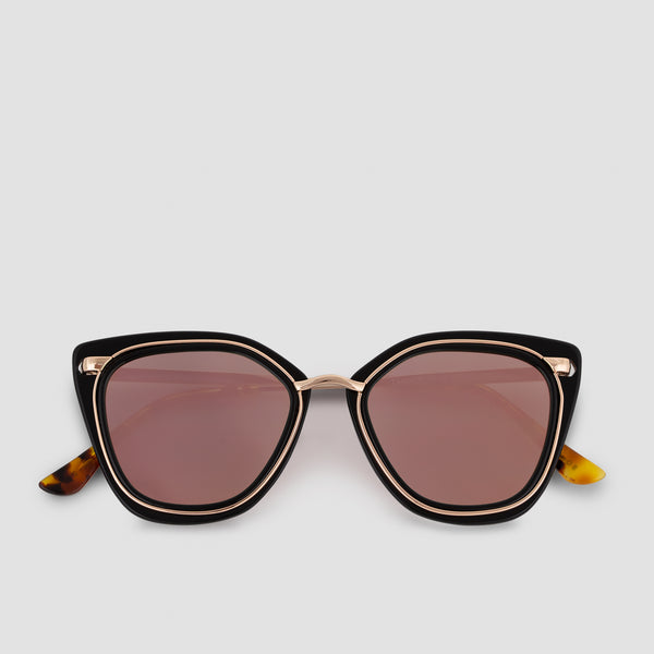 Front View of Temple Channel Pink (Mirror) Sunglasses