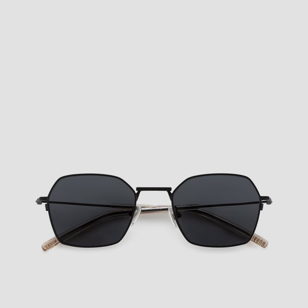 Front View of Tempo Black-Black Sunglasses