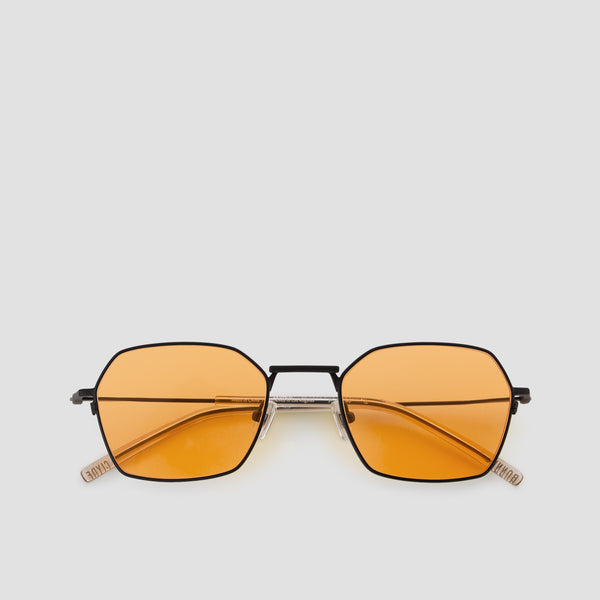 Front View of Tempo Black-Orange Sunglasses