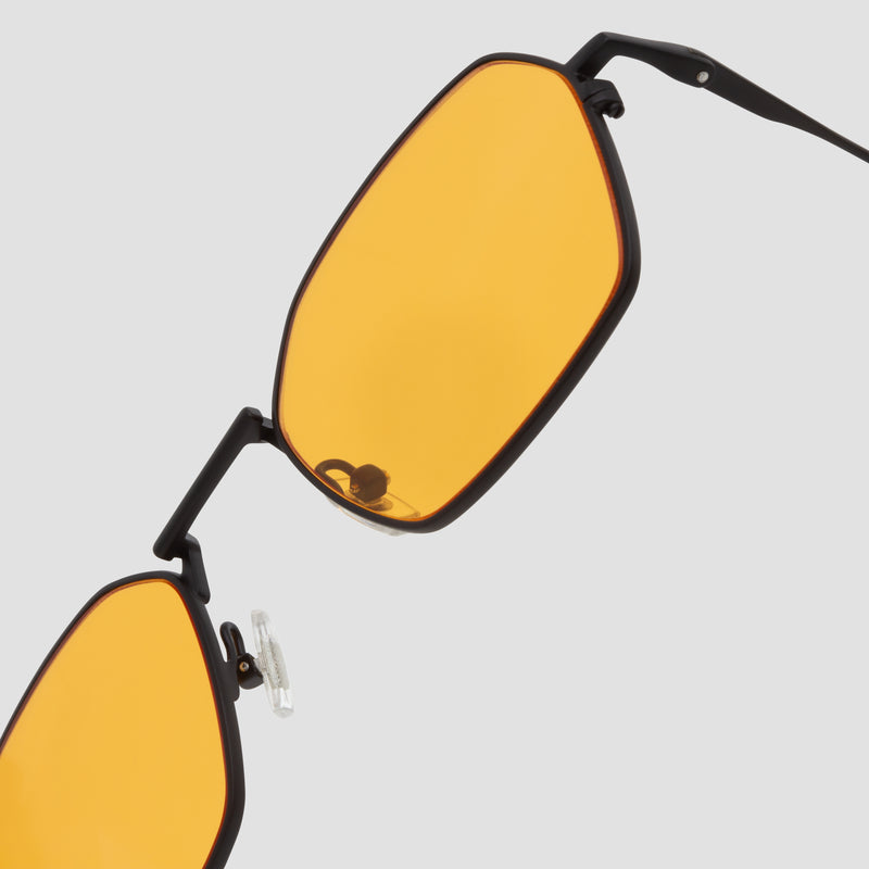 Detail shot of Tempo Black-Orange Sunglasses