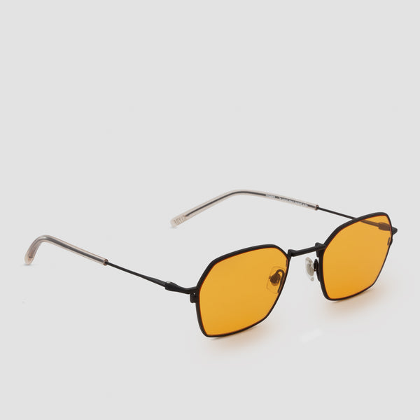 Quarter View of Tempo Black-Orange Sunglasses