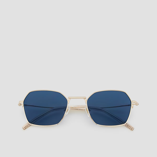 Front View of Tempo J. Gold-Real Blue Sunglasses