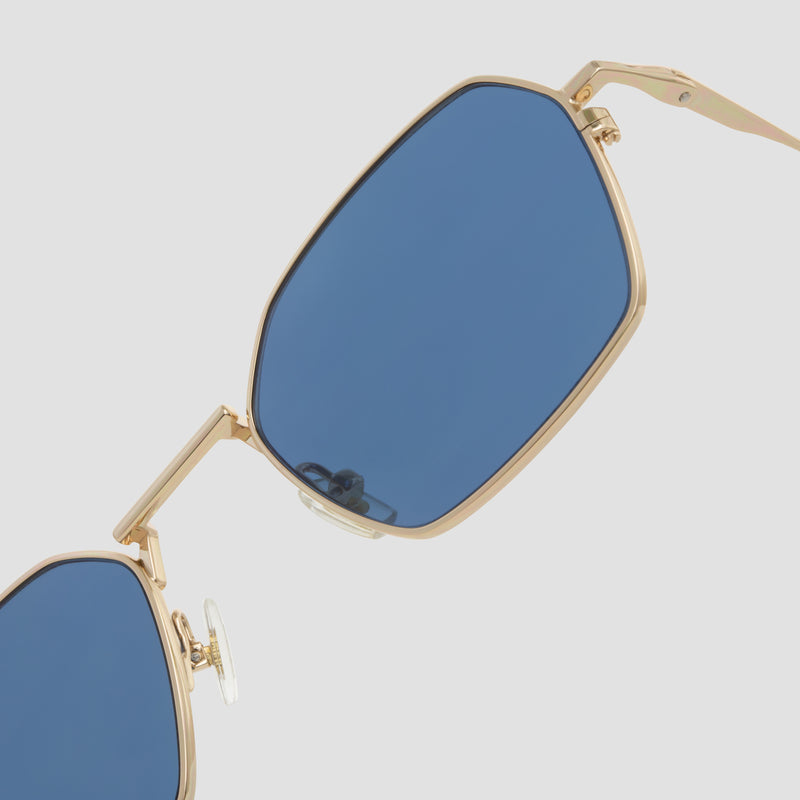 Detail shot of Tempo J. Gold-Real Blue Sunglasses