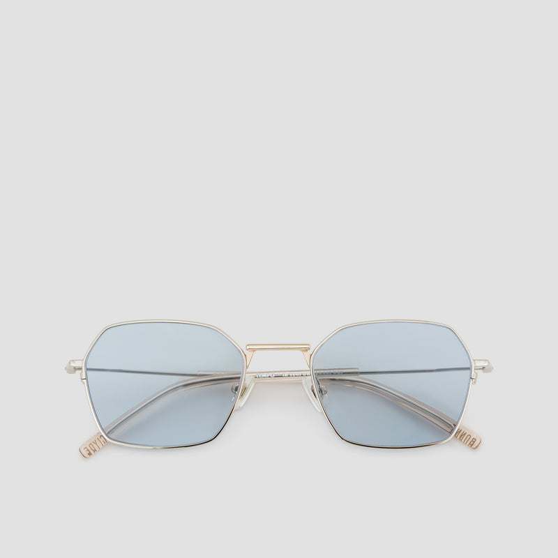 Front View of Tempo Mixed Alloy-Tian Blue Sunglasses