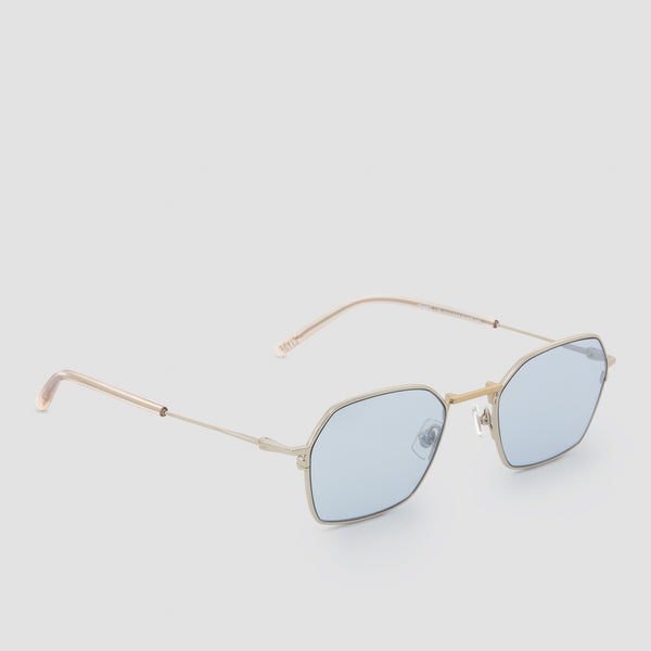 Quarter View of Tempo Mixed Alloy-Tian Blue Sunglasses